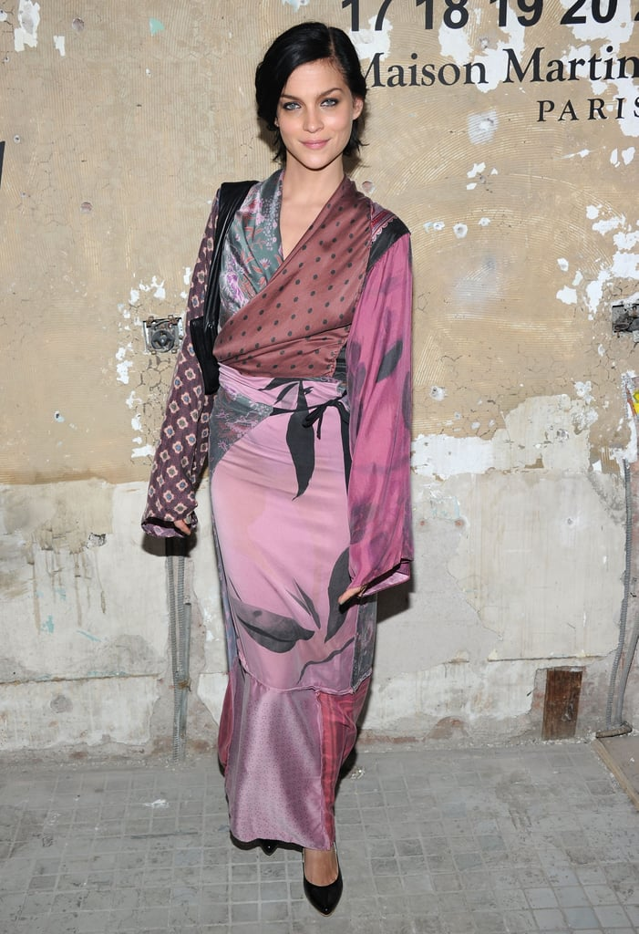 Leigh Lezark stepped out in an Asian-inspired silky wrap top and coordinating skirt.