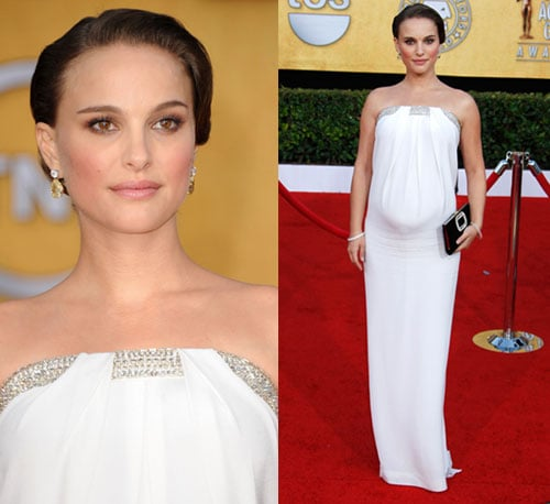 Natalie Portman in white Azzaro at SAG Awards 2011