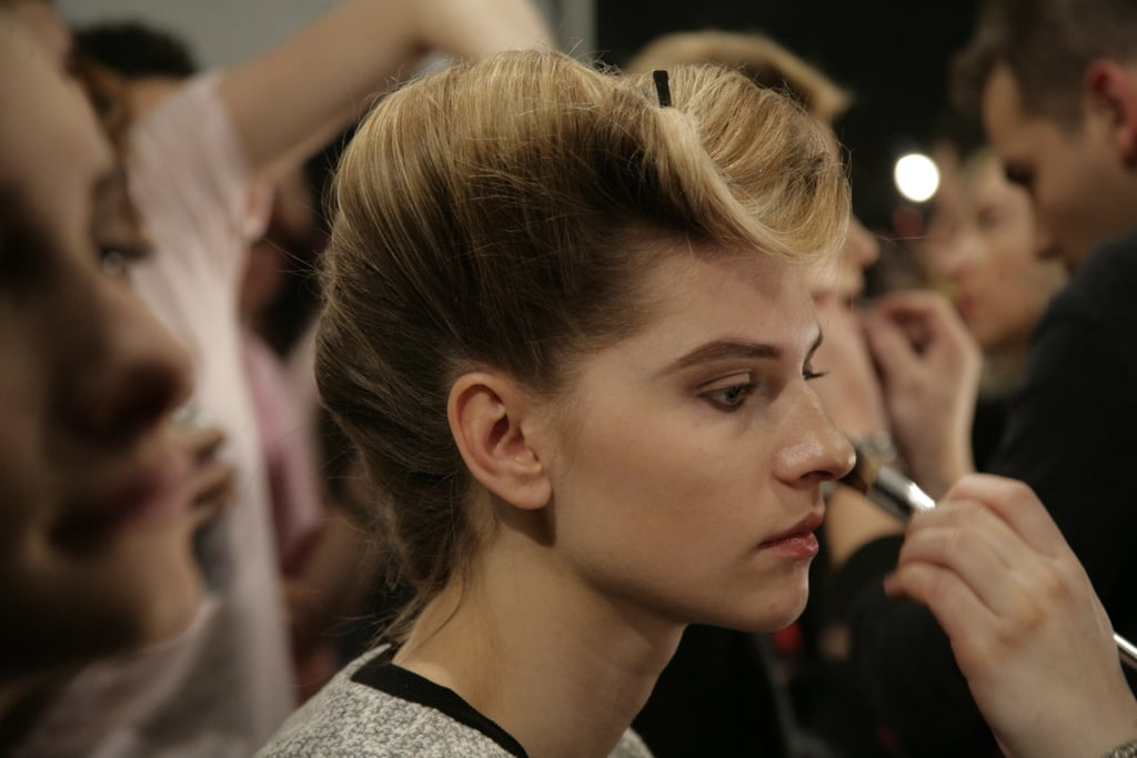 Makeup (by Tina Turnbow) was inspired by the '20s and '30s and featured a rich foundation and a rounded, elongated brow.  Photo: Megan Holmes