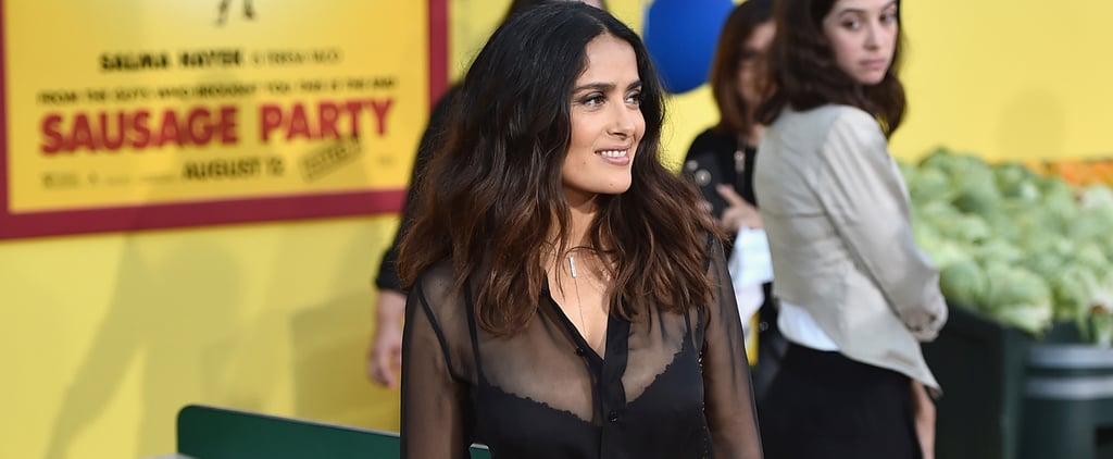 It's So Obvious Why Victoria Beckham Would Approve of Salma Hayek's Party Pants
