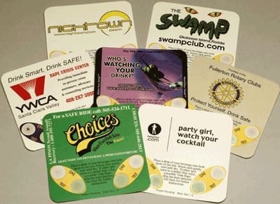 Coasters That Detect Date-Rape Drugs in Drinks