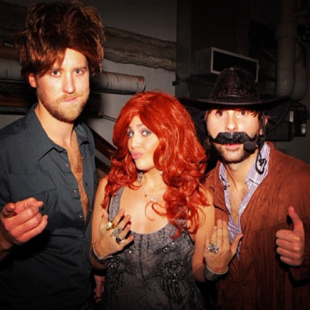 Lady Antebellum wore wigs for Halloween. Source: Instagram user lady_antebellum