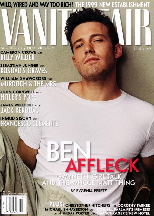 Ben Affleck landed the October 1999 cover of Vanity Fair.