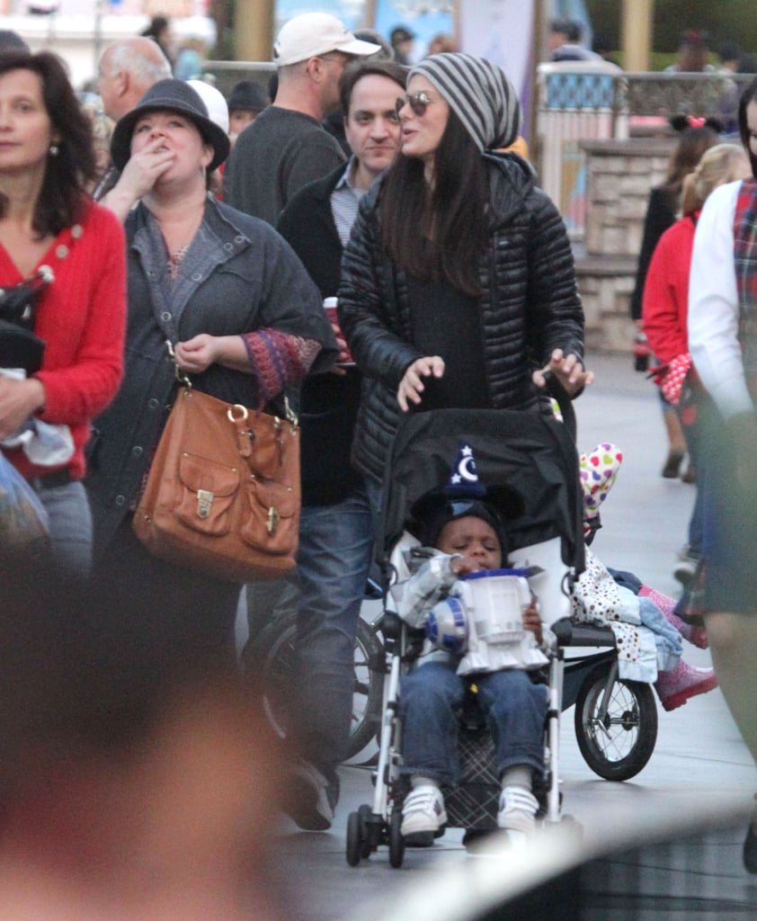 Sandra Bullock spent time with son Louis and pal Melissa McCarthy at Disneyland.