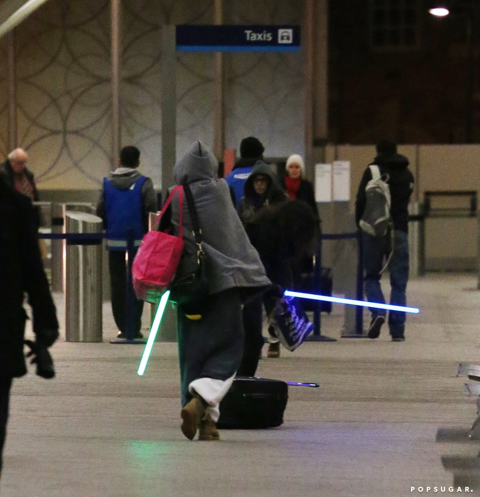 For Some Reason, Cara and Michelle Bring Lightsabers to London