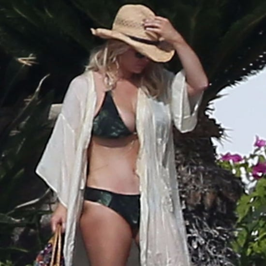 Jessica Simpson Wearing a Bikini by the Pool in Mexico 2016