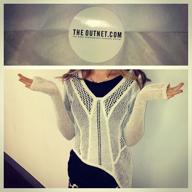 The postman is one of our favourite people in the world, especially when he delivers Ali's Helmut Lang jumper.