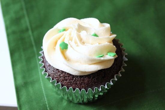 Chocolate Stout Cupcakes With Whiskey Ganache and Irish Cream Frosting