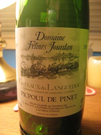 Happy Hour: 2005 Domaine Felines Jourdan Coteaux du Languedoc Picpoul de Pinet