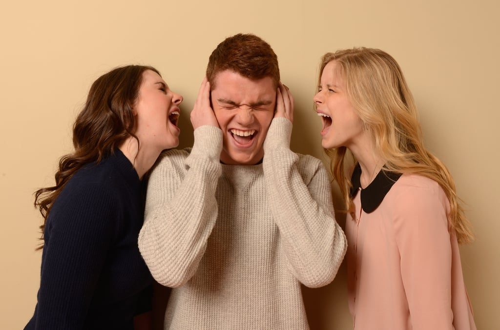 Things got a little loud when Alison Brie, Gabriel Basso and Erin Moriarty of Toy's House promoted the film at Sundance.