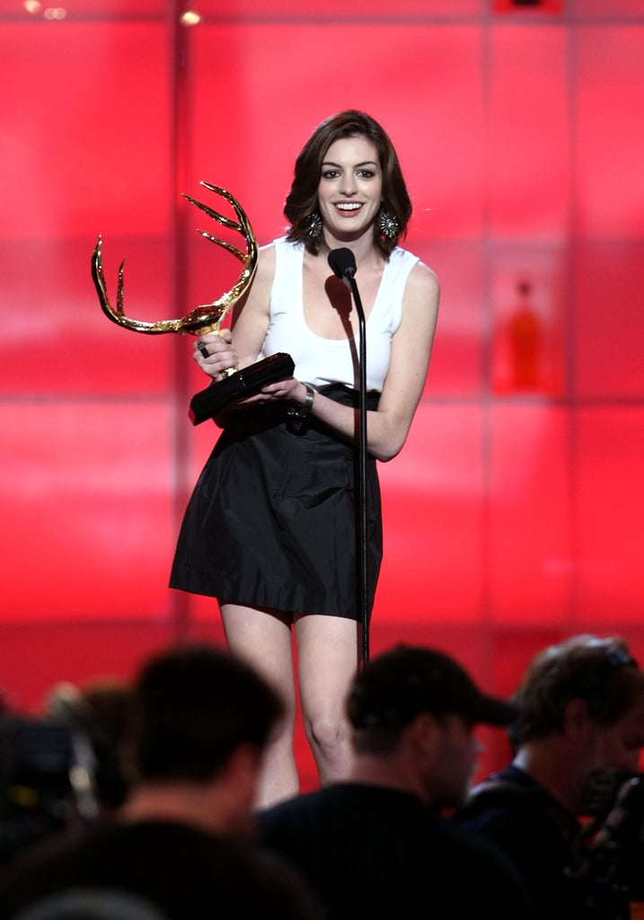 Anne Hathaway took home an award in 2008.