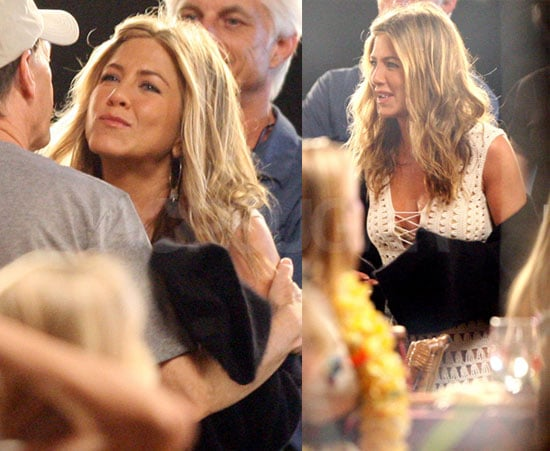 Pictures of Jennifer Aniston And Adam Sandler Filming Just Go With It