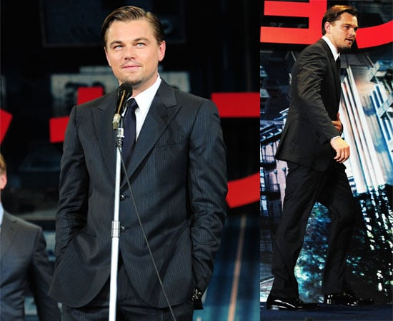 Pictures of Leonardo DiCaprio in Japan for Premiere of Inception