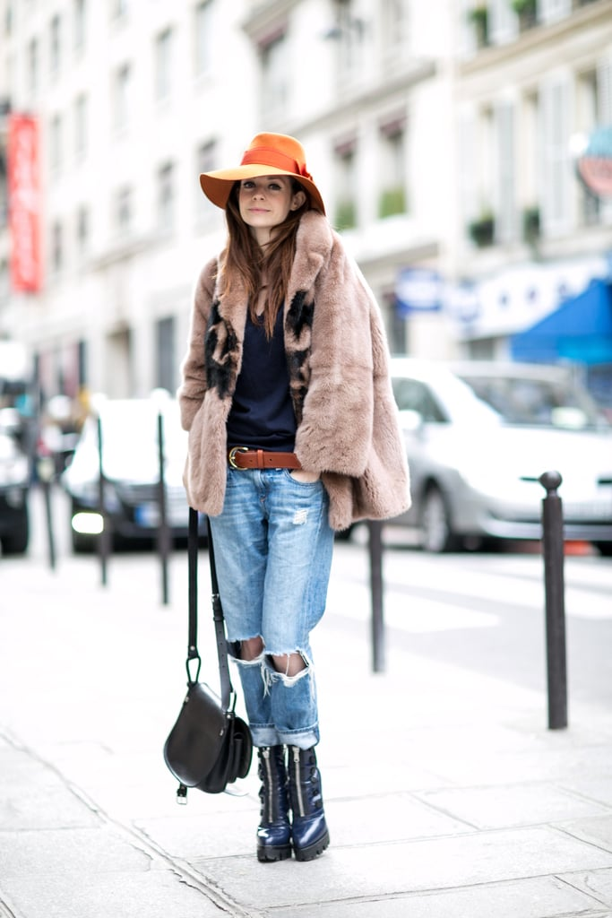 We're all about some distressed denim and high-impact boots.