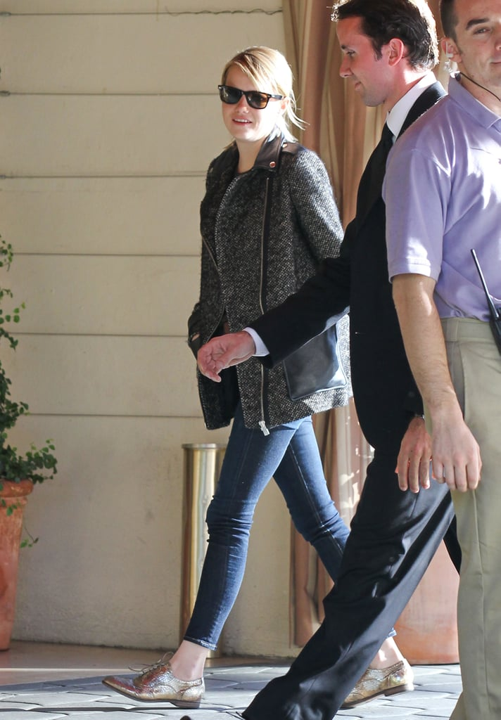 Emma Stone visited the Sunset Tower.