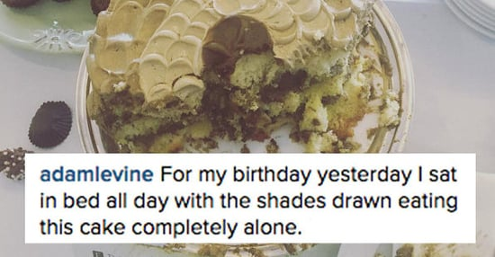 Adam Levine Spent His Birthday Alone Eating Cake In Bed