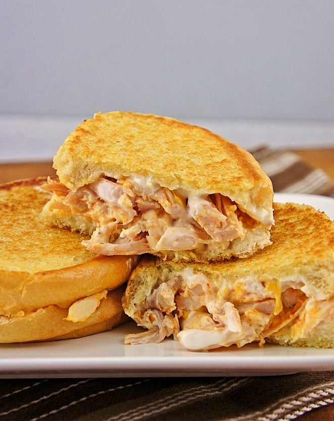 Buffalo Ranch Chicken Grilled Cheese