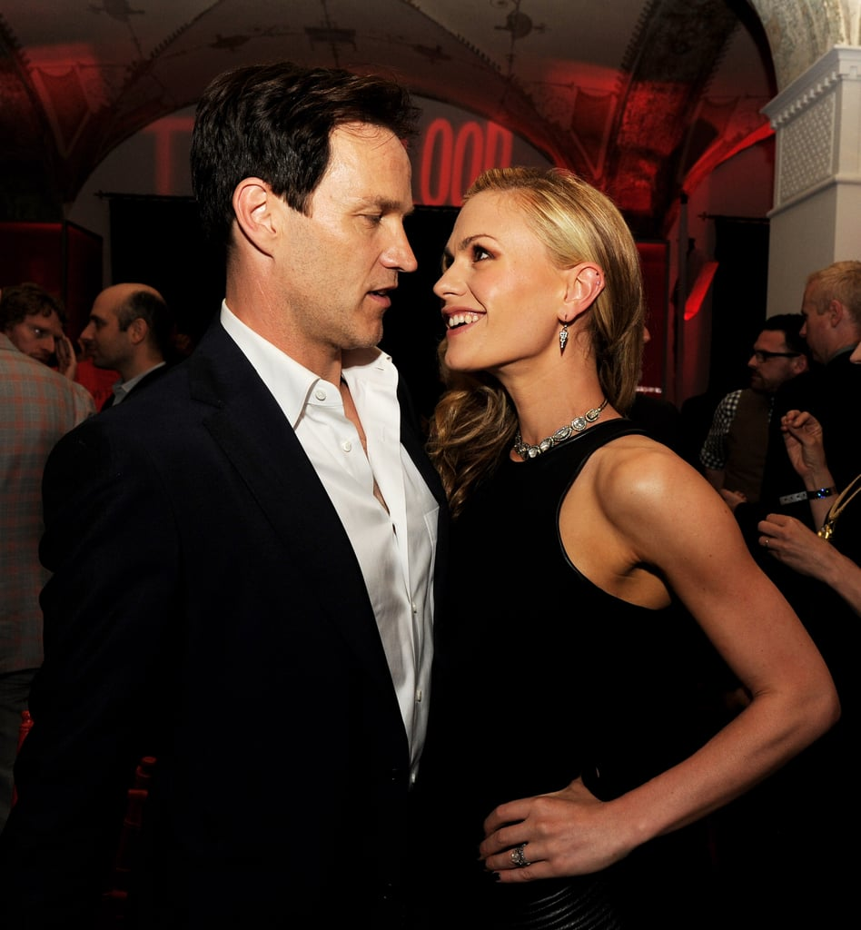 Anna Paquin and Stephen Moyer showed their affection at the after party for the True Blood season six premiere in LA.
