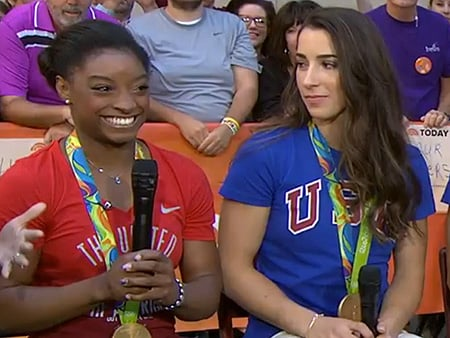 WATCH: Is Simone Biles Really Dating Her 'Brazilian Boyfriend!?' Is Aly Raisman Excited for Her Date with Raiders' Tight End Col
