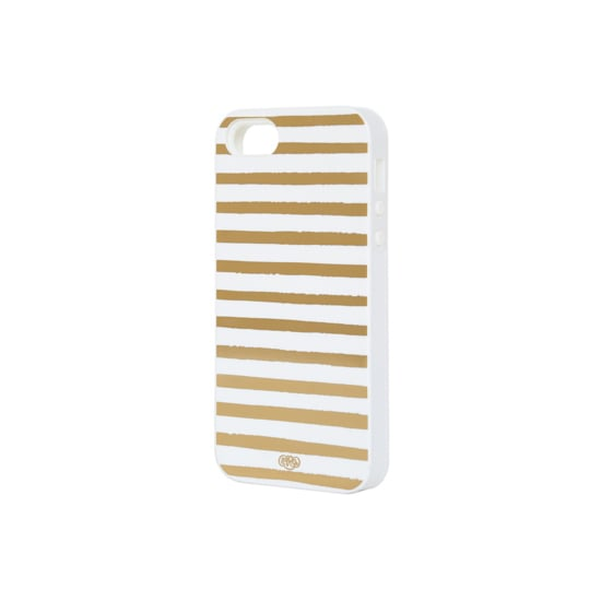 Give your phone the Midas touch with this Gold Stripes iPhone 5 Case ($36).