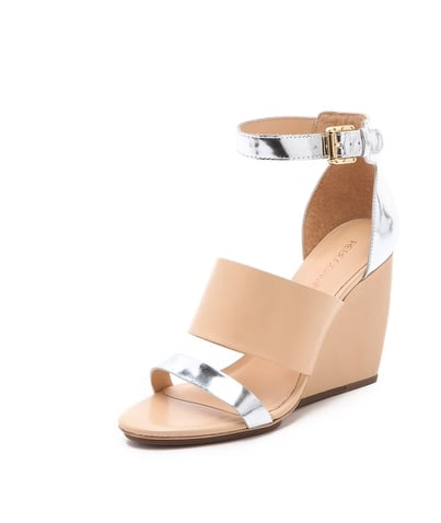 Rebecca Minkoff's Stella Wedge Sandals ($260, originally $325) are pretty much the ultimate when it comes to all-occasion Spring footwear. Neutral leather and a touch of metallic goes with everything — plus, a walkable wedge makes them entirely wearable.