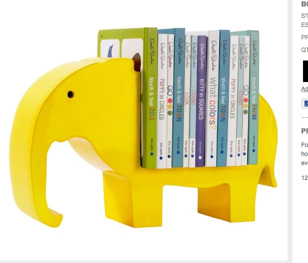 Dwell Studio's Elephant Bookshelf ($124)