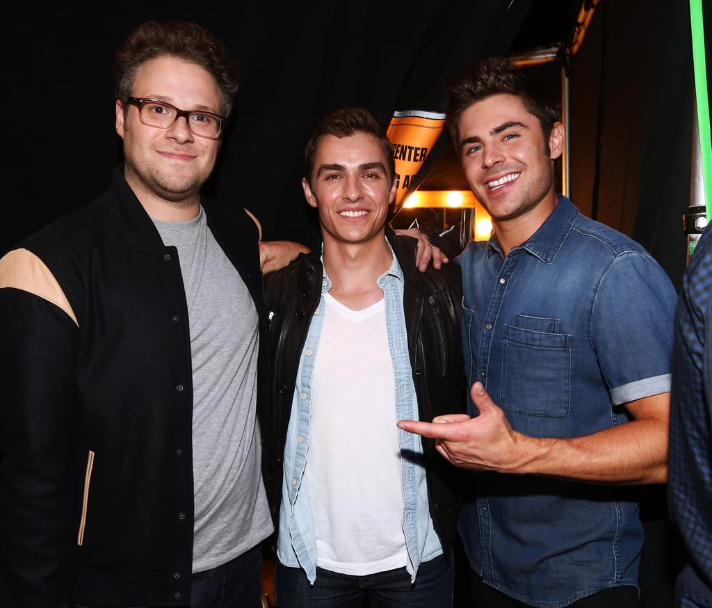 Seth Rogen, Dave Franco, and Zac Efron got together for a man moment.