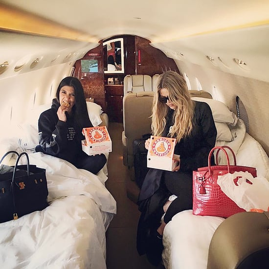 'Popeyes on the PJ'! Khloé and Kourtney Kardashian Have an Epic 'Cheat Day' on a Private Jet