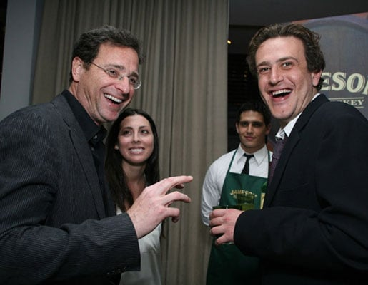 Bob Saget and Jason Segel At a How I Met Your Mother Party