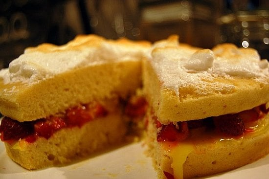 Berry Lemon Meringue Cake