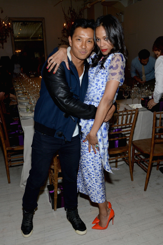Prabal Gurung and Zoe Saldana