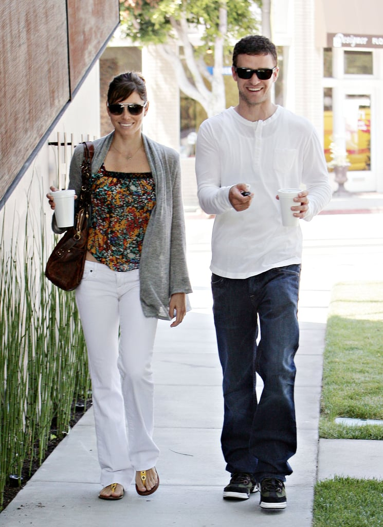 Jessica and Justin couldn't contain their smiles while out in LA in August 2008.