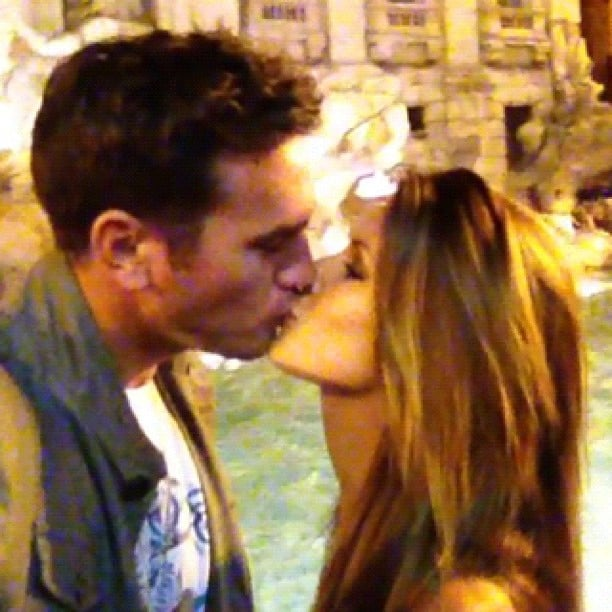 Audrina Patridge and her boyfriend shared a kiss in Italy.  Source: Instagram user audrinapatridge