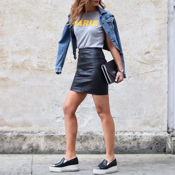 Leather Skirts | POPSUGAR Fashion