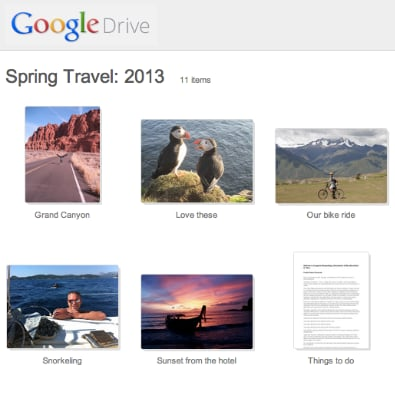 Google Drive Image Preview