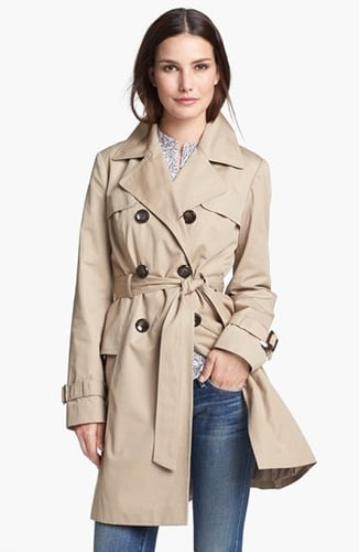 Ellen Tracy Double Breasted Trench Coat (Regular & Petite) Small P