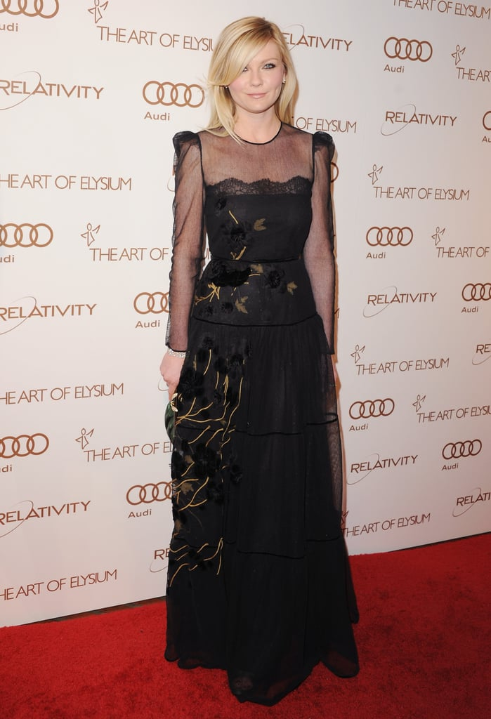 She channeled pure romance in a sheer and lace-infused Valentino gown at the 2012 Art of Elysium Heaven gala.