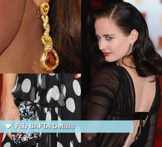 Close Up Detail Photos of Accessories and Dresses at 2011 BAFTA Awards