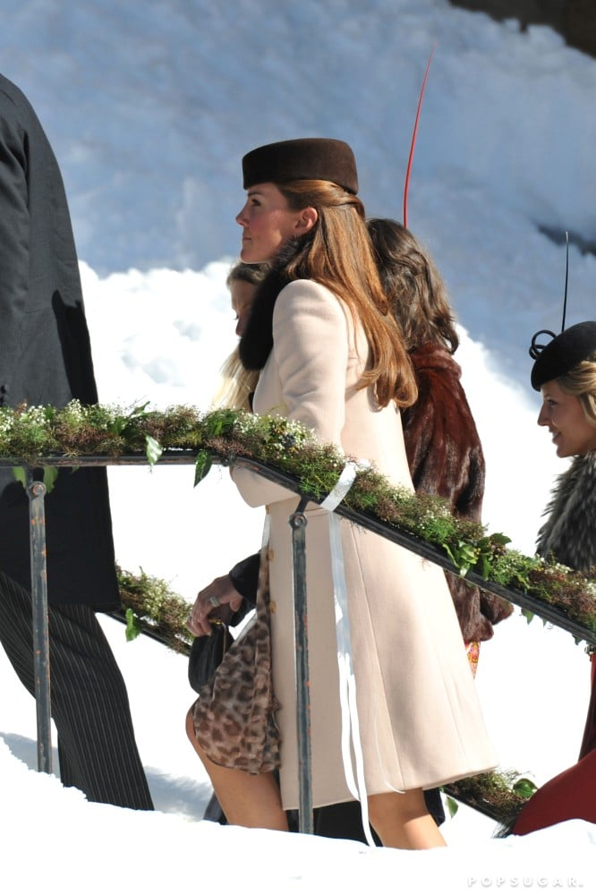 Kate Middleton Covers Up For a Snowy Swiss Wedding With William and Harry