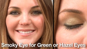 Smokey Eye Makeup Demo Green Eyes