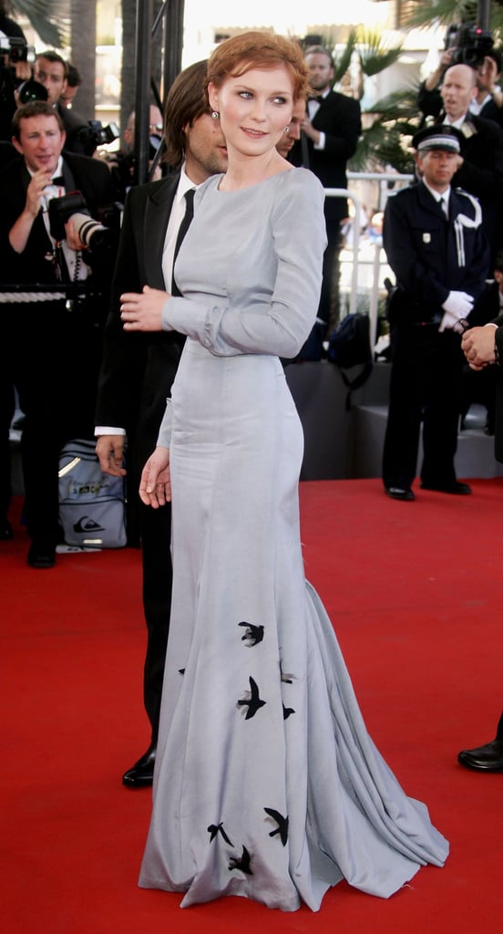 Kirsten Dunst chose a long-sleeved gown for the festival premiere of her movie Marie Antoinette in 2006.