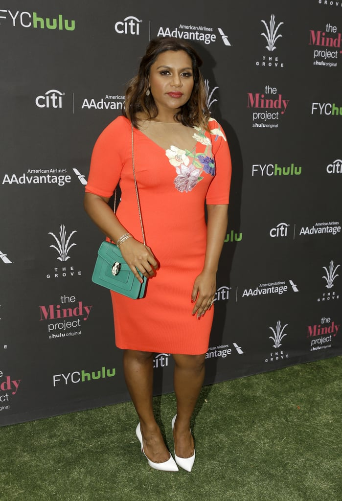 Wearing a pretty Blumarine dress for a Mindy Project style event in LA in June 2016.