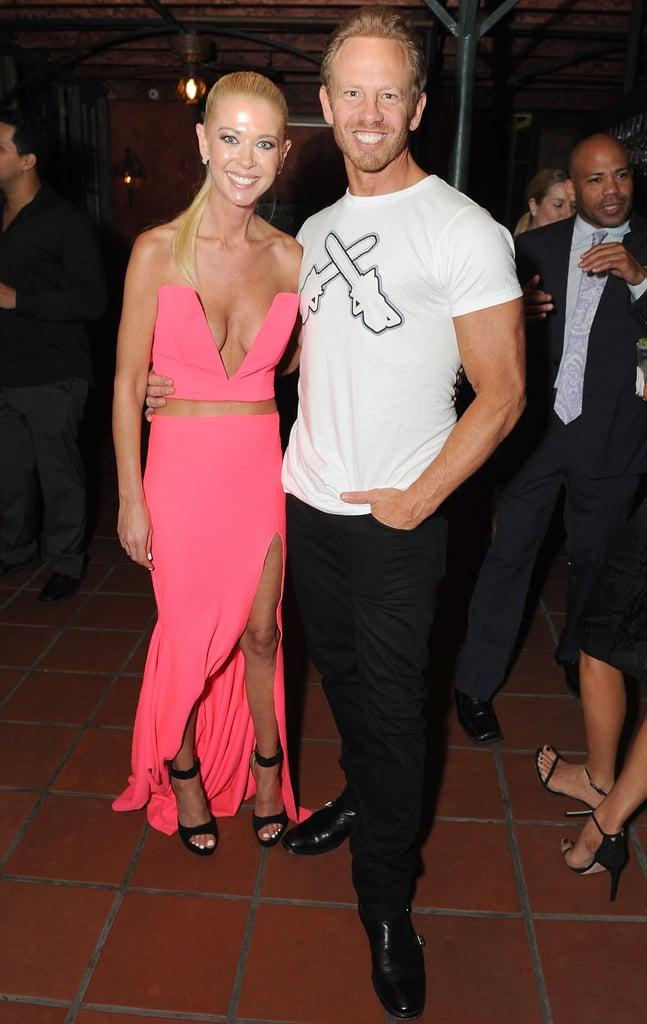 Tara Reid and Ian Ziering attended a bash for Sharknado 2 in LA on Thursday night.