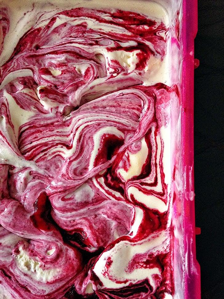 Blackberry Buttermilk Ice Cream