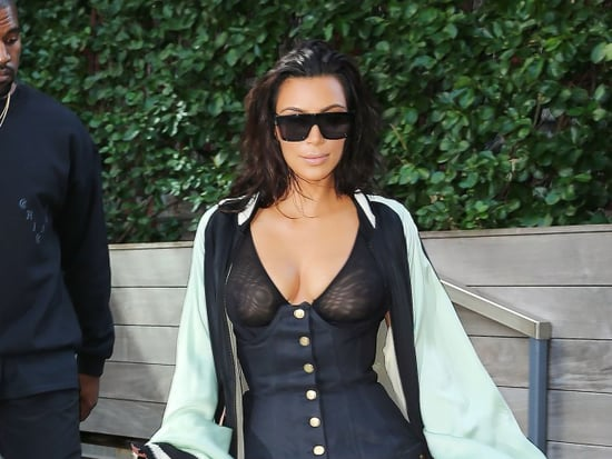 In This See-Through, Tight, Furry and Flowy Ensemble, Kim Kardashian May Have Hit Peak Kim Kardashian
