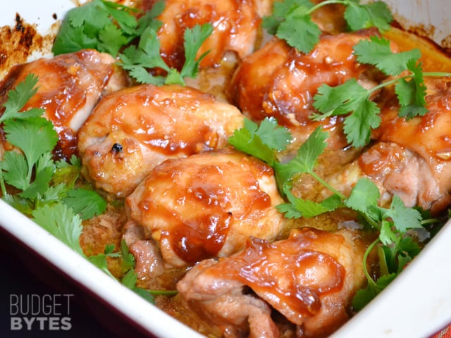 Honey Sriracha Chicken Thighs