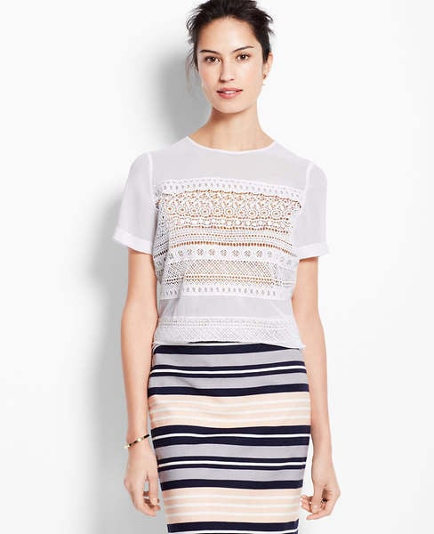 Ann Taylor Lace Tee