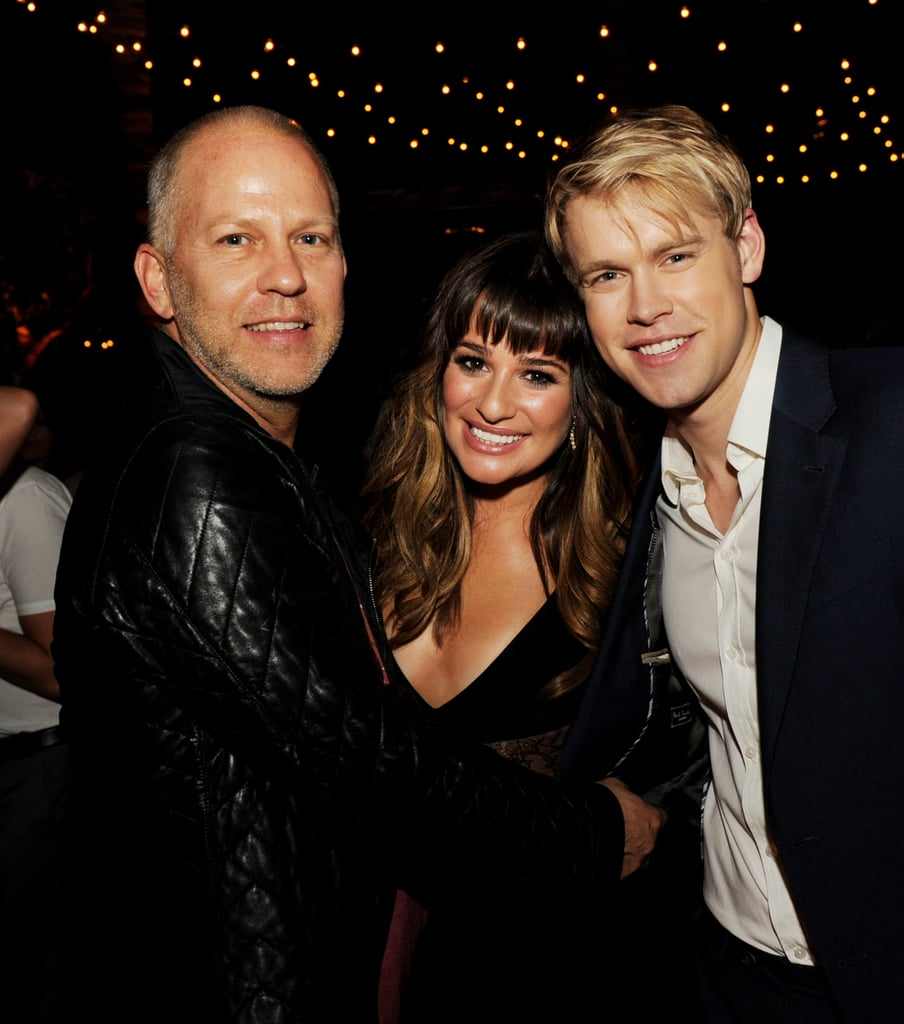 Lea was flanked by Glee castmate Chord Overstreet and producer Ryan Murphy at the show's season four after party in LA in September 2012.