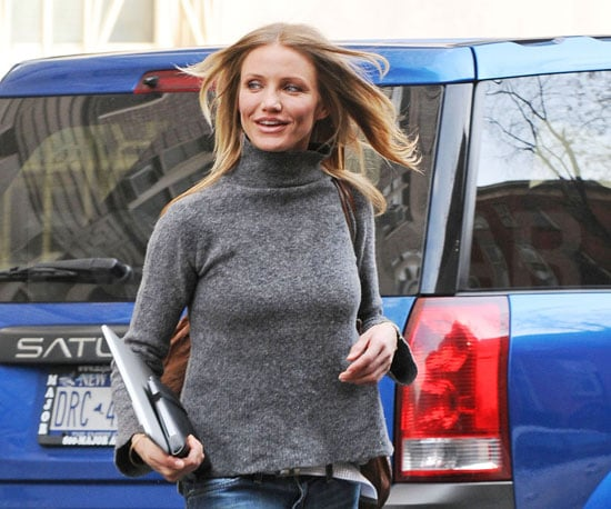 Photo of Cameron Diaz Out in NYC With Her MacBook Air