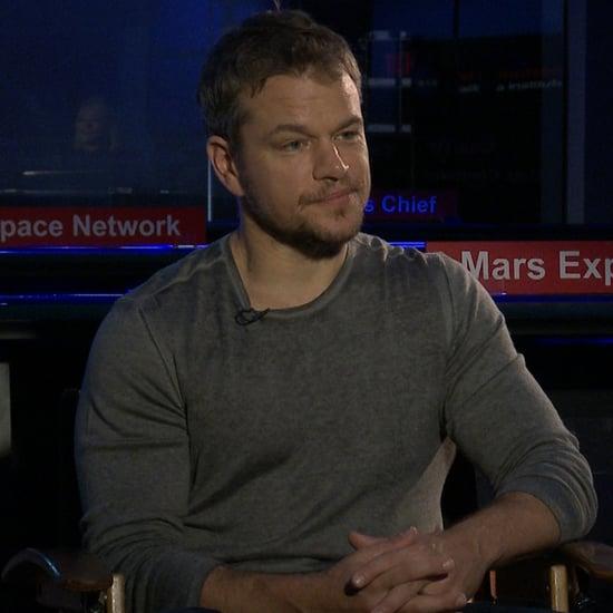 Matt Damon The Martian Interview (Video)